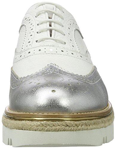 British Oxford 39 Para Cap Wing Mujer Passport EU Zapatos Blanco rzqIrw