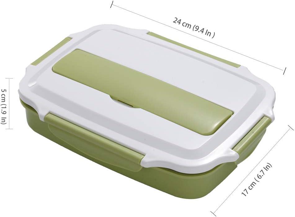 HUAFA Lunchbox Estilo bento Apto para Microondas Y Lavavajillas Apto para Adultos Y Ni/ños Negro Incluyendo Bolsas de Almuerzo y Cubiertos Saludable Y con Estilo Duradero