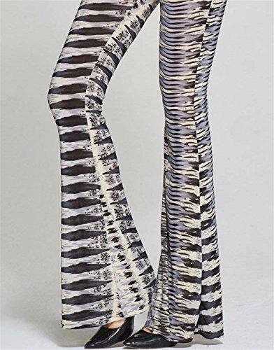Gamba Donna Larghi Vintage Fashion Colpo Pantalone Per Donne Cocktail Pantaloni Pattern A Battercake Eleganti Party Grau Pantaloni Casuale Larga Campana Estivi Pantaloni Pantaloni Donna Stampato 4E0dWwRq