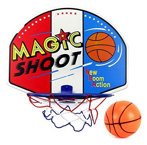 Magic Shot Hoop & Backboard Children's Kid's Toy Basketball Playset w/ Toy Basketball, Backboard, Hoop, Net by Velocity Toys