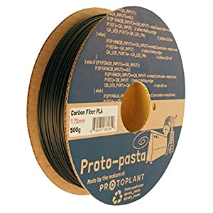 Proto-pasta CFP11705 The Original Carbon Fiber Spool , PLA 1.75 mm, 500 g , Black by Protoplant INC