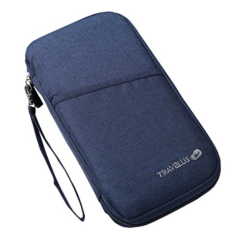 THEE Passport Wallet Holder Travel Clutch Bag Credit Card Cash Organizer