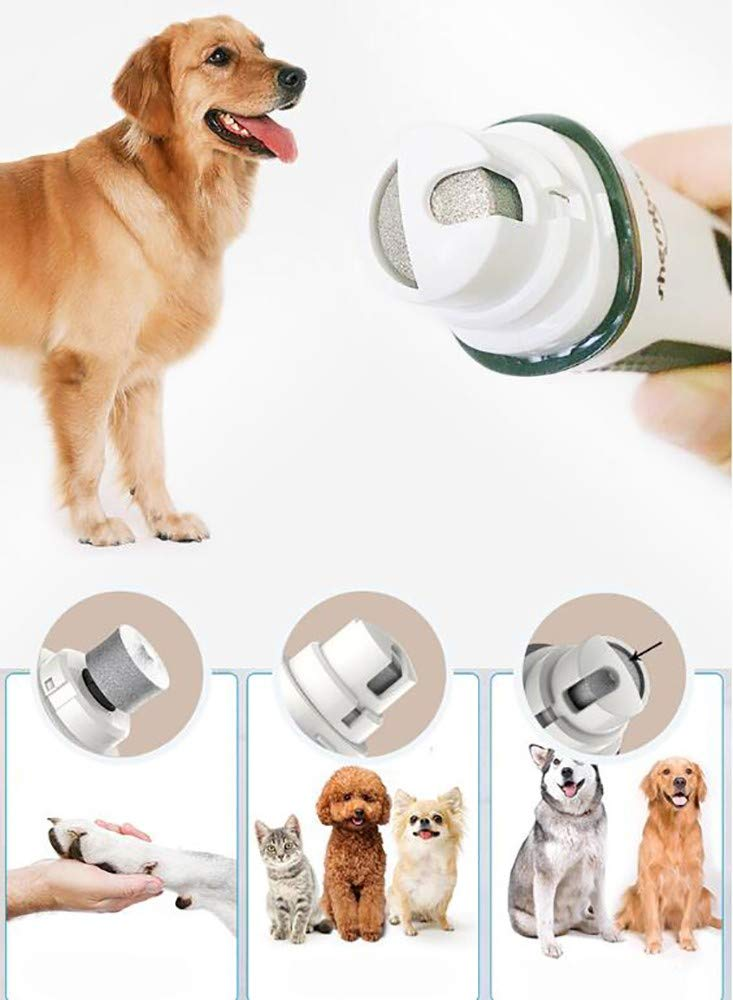 Pet Nail Grinder,Ultra Quiet Electric Dog Nail File with 2 Speeds Fast Grinding,Quick Charging,Long Working Time for Small to Medium Dogs Cats Nail Grinder Trimmer Claw Care