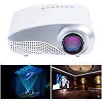 LightInTheBox Portable Multimedia Mini LED Projector with USB VGA HDMI AV for Party,Home Entertainment,20000 Hours Led life with Remote