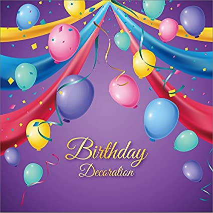 Amazon Com Baocicco 6 5x6 5ft Vinyl Happy Birthday Backdrop