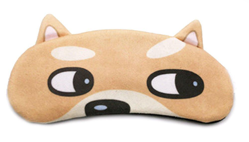 Cute Cartoon Corgi Husky Dog Cat Adjustable Sleep Mask Blindfold
