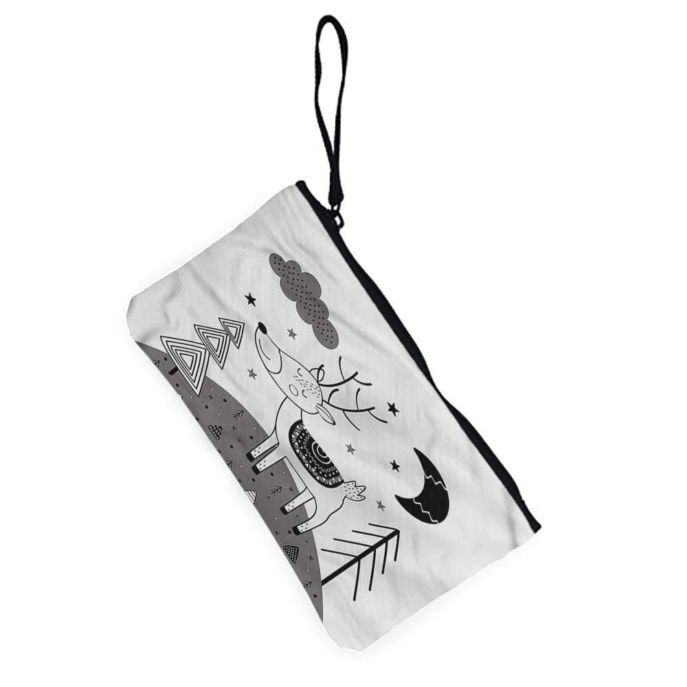 Cell phone bag Doodle,Retro Alarm Clock Grunge,designer coin purse For Girls,Ladies,Womens