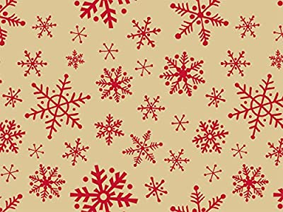 """Woodcut Snowflakes Tissue Paper120~20""""x30"""" Half Ream Recycled (1 unit, 120 pack per unit.)"""