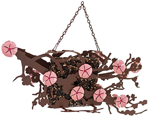 Desert Steel - Hanging Bird Seed Cake Feeder - Cherry Blossom Flower - (14