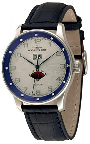 Zeno-Watch Mens Watch - X-Large Retro Big Date Power Reserve (12 crystal) - P590-Dia-g2