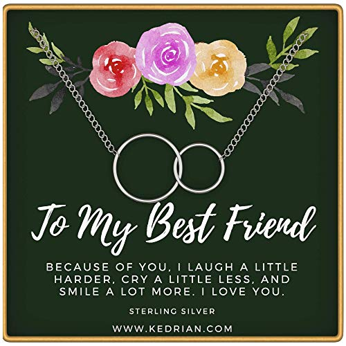 KEDRIAN Best Friend Necklaces, Friendship Necklace, 925 Sterling Silver, Friendship Gifts for Women, BFF Necklace, for Women, Friendship Necklace, Friend Gifts for Women