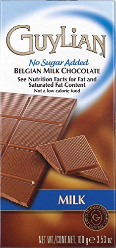 Guylian No Sugar Added Belgian Milk Chocolate Bar, 3.5 Ounces (Pack of 12) by GuyLian (Image #1)