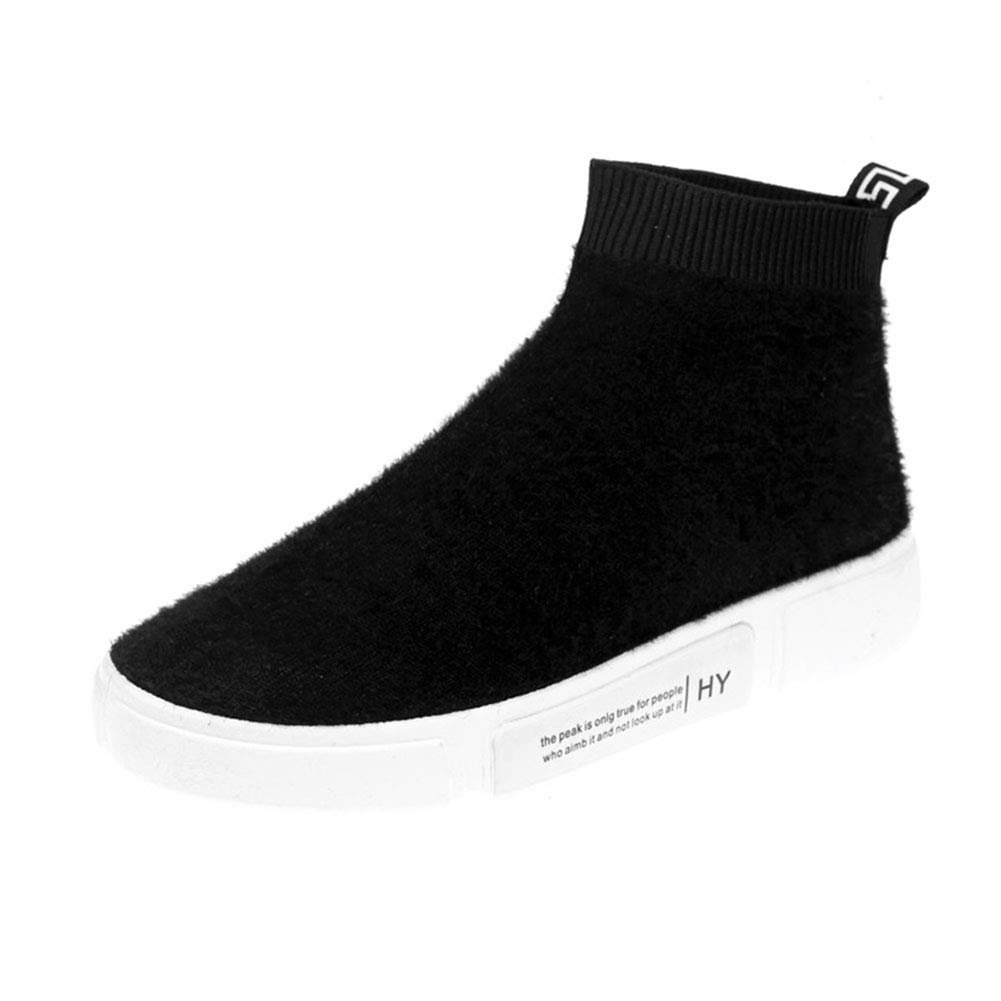 YAN damen es Stiefel New 2019 Deck schuhe Running schuhe High-Top Casual schuhe Fashion Turnschuhe Platform schuhe,schwarz,36