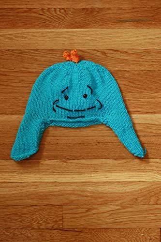 (Hand Knit Mr. Meeseeks Ear Flap Hat)