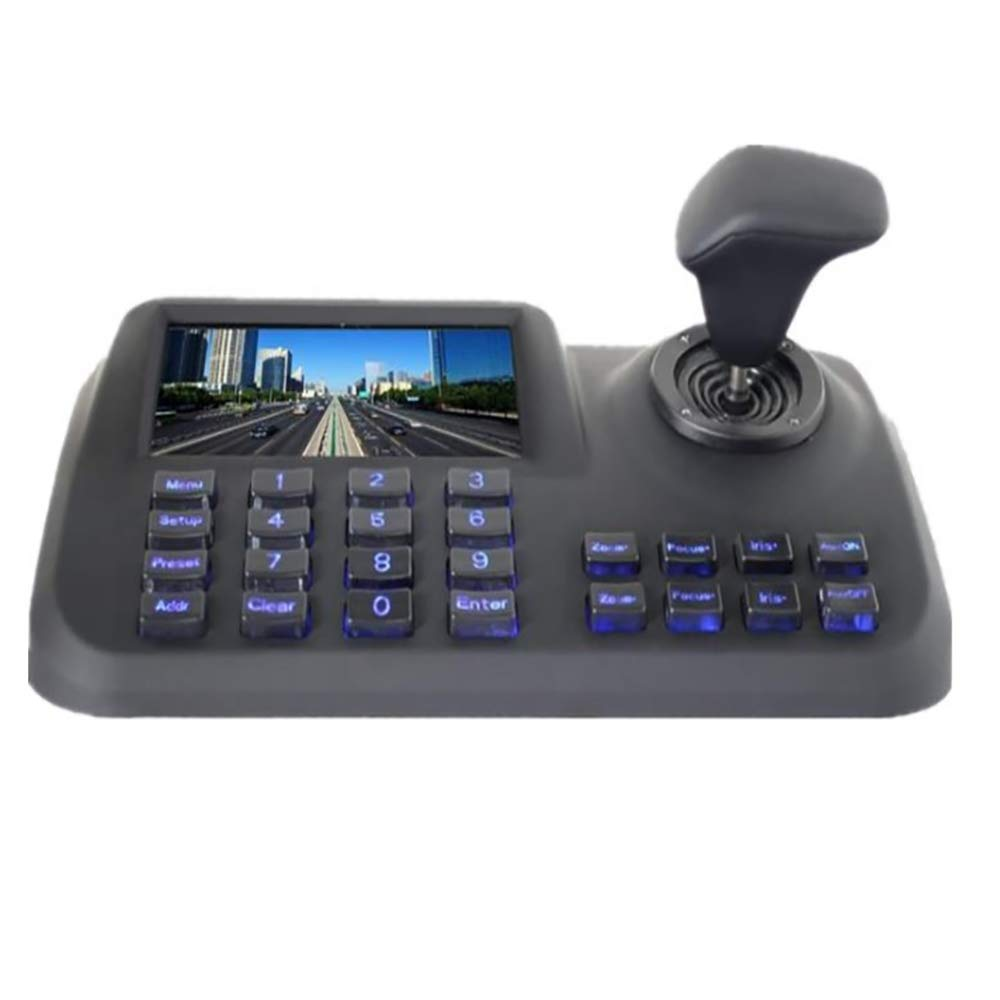 CTVISON PTZ Camera Controller Network Keyboard Joystick Keyboard 4D IP PTZ Controller with LCD Monitor Display Onvif Protocol Support Great for IP PTZ Camera(White) by CTVISON (Image #4)