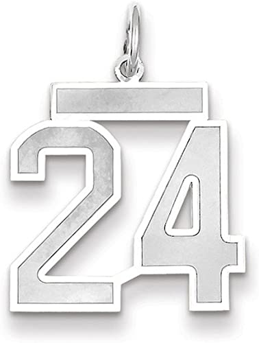 Best Quality Free Gift Box 14k Wg Medium Satin Number 1 Charm