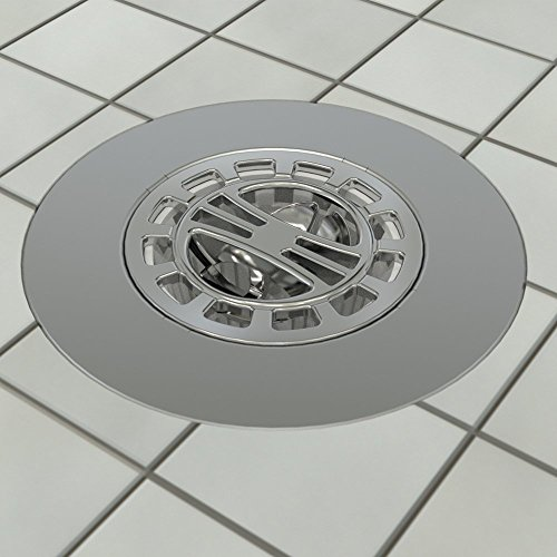 DANCO Hair Catcher for Stand-Alone Shower Drain Cover | 3-inch Shower Drain Openings | Strainer Snare | Chrome (10529)
