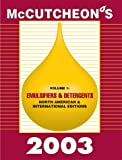 McCutcheon's Emulsifiers and Detergents Vol. 1 : North American and International Edition, , 0944254926