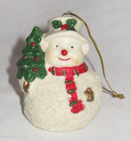 Amazon Com Ceramic Snowman Glittery Ornament With Christmas Tree 3