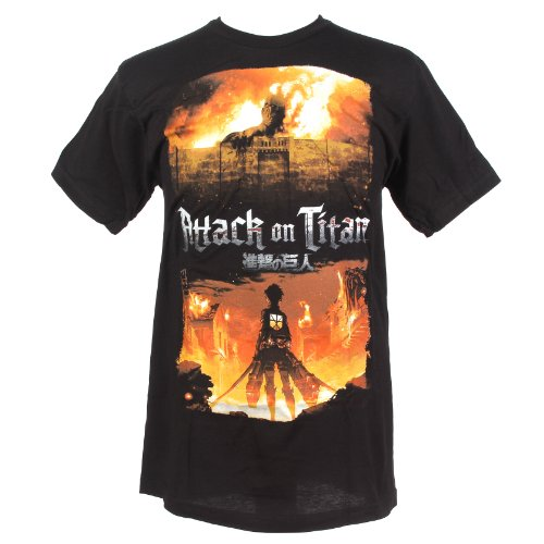 Attack on Titan Shirt Hot Topic Attack on Titan Fire t Shirt
