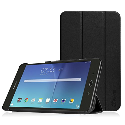 Fintie Slim Shell Case for Samsung Galaxy Tab E 8.0, Super Slim Lightweight Standing Cover for Samsung Galaxy Tab E 32GB SM-T378 / Tab E 8.0-Inch SM-T375 / SM-T377 Tablet, Black