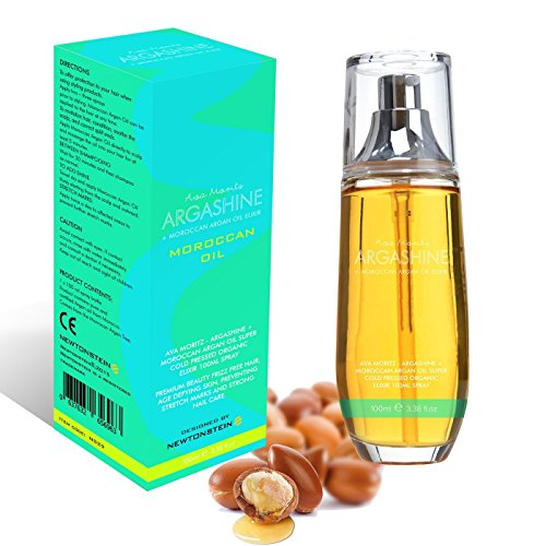 Ava Moritz - ARGASHINE+ marokkanisches Arganöl extrem kalt gepresst Elixir 100ml Spray aus biologischem Anbau - Hochwertiges Pflegeprodukt kräuselfreie Haare, jünger wirkende Haut, beugt gegen Schwangerschaftsstreifen vor, sowie starke Nagelpflege.
