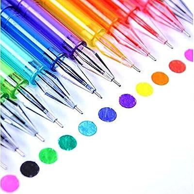 Kicode Plumas de gel de punta fina 12 colores Plumas para colorear ...