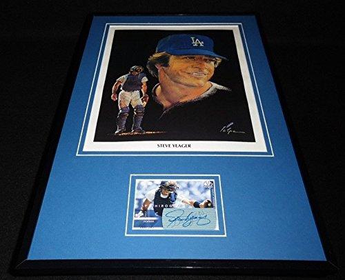 Steve Yeager Signed Framed 11x17 Volpe Poster Display UDA Dodgers (Volpe Steve)
