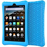 LEDNICEKER Shock Proof Case for Fire HD 8 2018/2017 Tablet - Light Weight Soft Silicone Kids Friendly Protective Case for Fire HD 8-inch (7th & 8th Generation Tablet, 2017 & 2018 Release), Blue