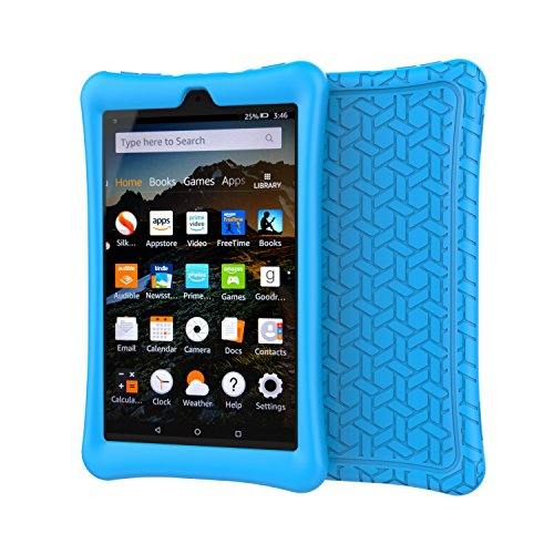 BMOUO Silicone Case for All-New Amazon Fire HD 8 2018 / 2017 - Anti Slip Light Weight Shock Proof Kids Friendly Protective Case for Fire HD 8 Tablet (7th and 8th Generation, 2017 and 2018 Release) , B