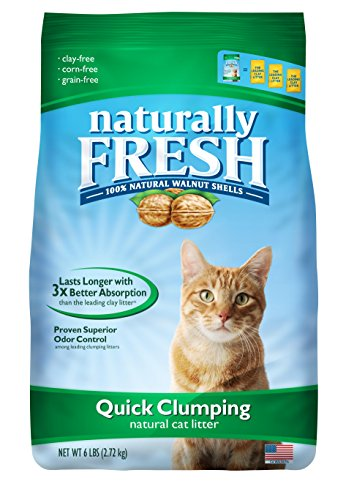 Naturally Fresh Cat Litter - Walnut-Based Quick-Clumping Kitty Litter, Unscented, 14 lb