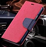 Thinkzy Artificial Leather Flip Case Cover for Vivo Y81 - Pink, Blue