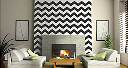 Chevron Wall Decals   Chevron Bedroom Wall Decal   DIY Chevron Wall Stickers    Premium Chevron
