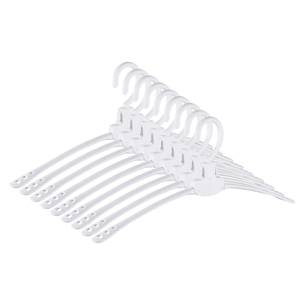 Neat Blanc Collapsible Clothes Hangers, Collar Protect Design   9 Pack (White) by Neat Blanc