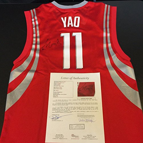 quality design 8fc68 0ce24 Yao Ming Signed Jersey - Reebok COA - JSA Certified ...