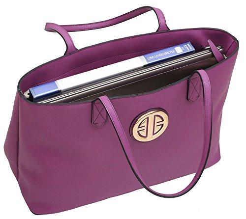 Large Bag Shoulder Sale Look Handbags Design Faux Womens Ladies 1 Leather Designer In Purple Extra New wz0Tv