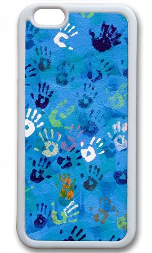 Handprint Art Thanksgiving Easter TPU White Case for Masterpiece Limited Design iphone 6 by Cases & Mousepads