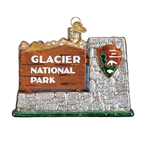 Old World Christmas Ornaments: Glacier National Park Glass Blown Ornaments for Christmas Tree