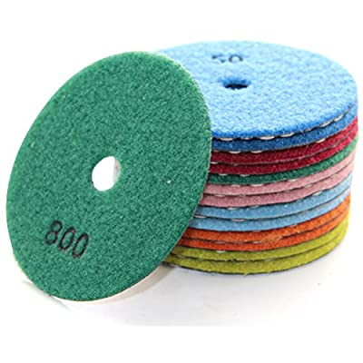 Easy Light Premium Grade Diamond Dry Polishing Pads for Grinding Marble Granite Stone Pack of 10Pcs by Fujian Yida Nano Materials Technology Co. Ltd