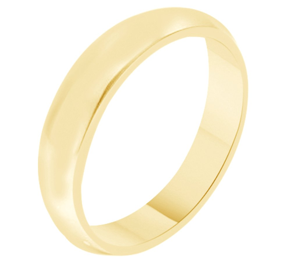 Solid 10k Yellow Gold 4MM Comfort Fit Men & Women Wedding Band Ring