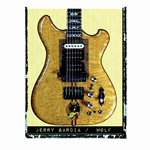 Jerry Garcia Grateful Dead Wolf Guitar art music print/Guy Gift/Rock n roll art/music gift idea