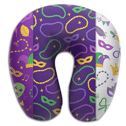 Scorpio Mardi Gras Lightweight Travel Pillow Spa U SHAPE For Auto People by Scorpio (Image #1)