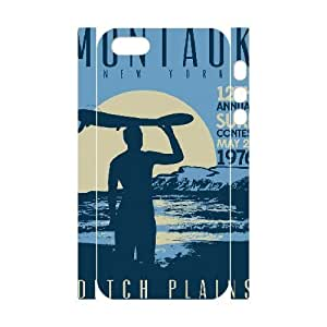3D Distressed Inspirational Series, Case For HTC One M8 Cover Case, Montauk Ditch Plains Retro Vintage Surf Poster Case For HTC One M8 Cover [White]
