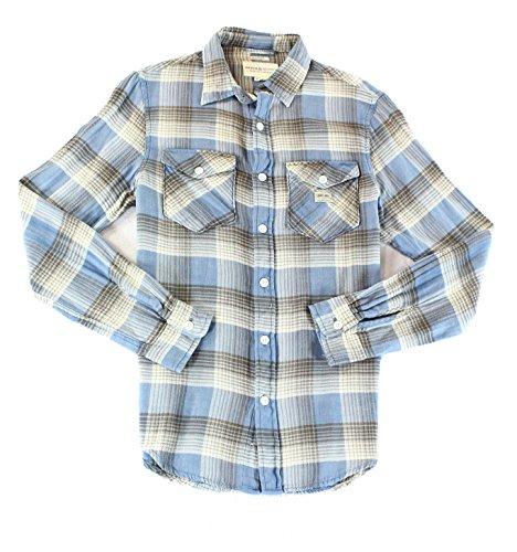 Denim & Supply Ralph Lauren Mens Twill Plaid Button-Down Shirt Blue - Lauren Polo Ralph India