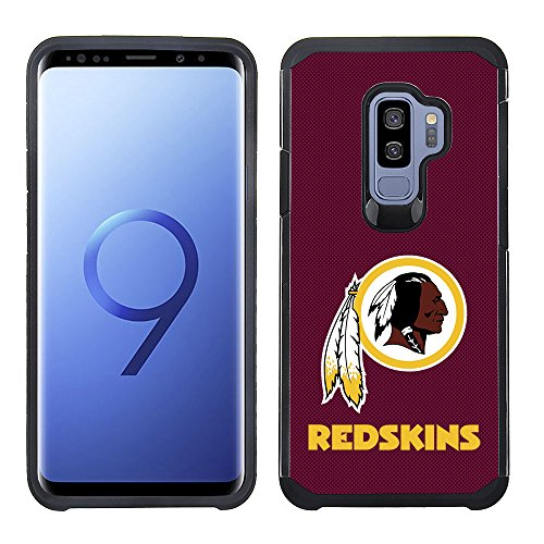 - Prime Brands Group Textured Team Color Cell Phone Case for Samsung Galaxy S9 Plus - NFL Licensed Washington Redskins