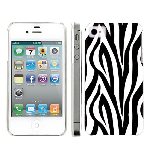 (Mobiflare, Slim Clip-on Phone Case, for [iPhone 4 and 4S] - Zebra Print)