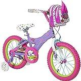 16 inch Dynacraft DreamWorks Trolls Colorful Charming Girls Bike with Handlebar Bag and Removable Adjustable Training Wheels