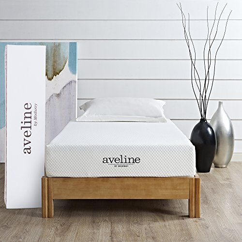 Modway Aveline 8' Gel Infused Memory Foam Twin Mattress With CertiPUR-US Certified Foam - 10-Year...