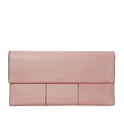 fc278e9a2112 Tory Burch Block-T Travel Clutch - Shell Pink  Handbags  Amazon.com