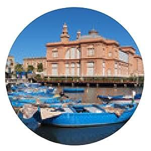 alfombrilla de ratón Margherita Teatro en Bari, Italia. - ronda - 20cm